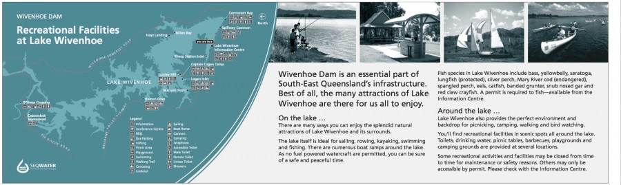 Wivenhoe Dam interpretive signage - Recreation