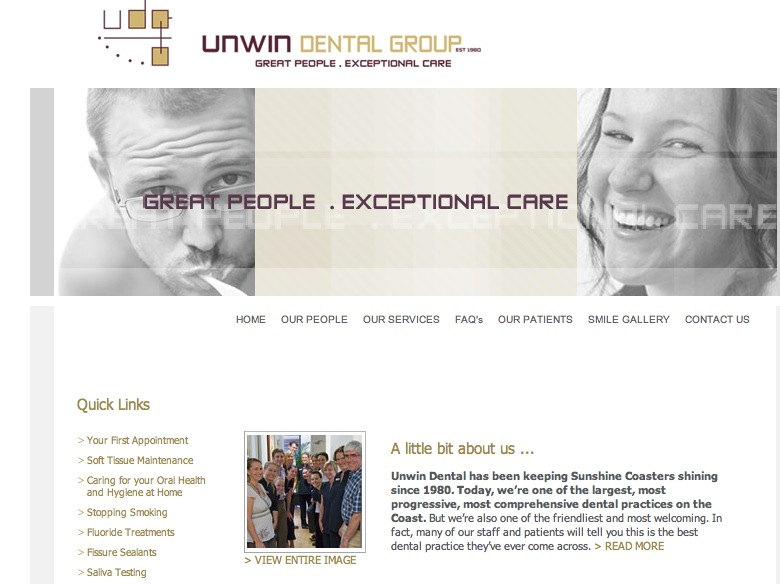 Unwin Dental web