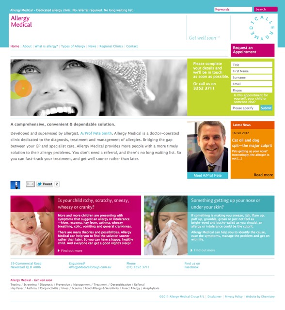 Allergy Medical website